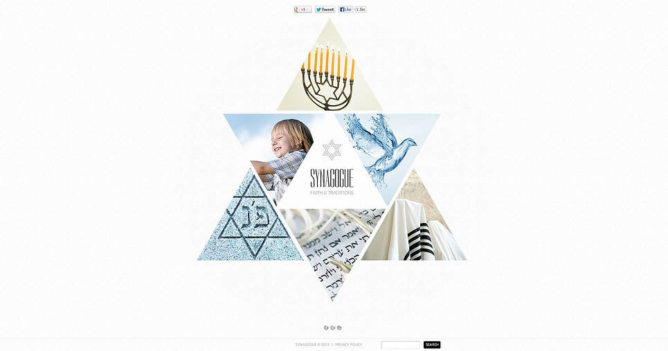 Szablon Flash CMS #46054 na temat: synagoga New Screenshots BIG
