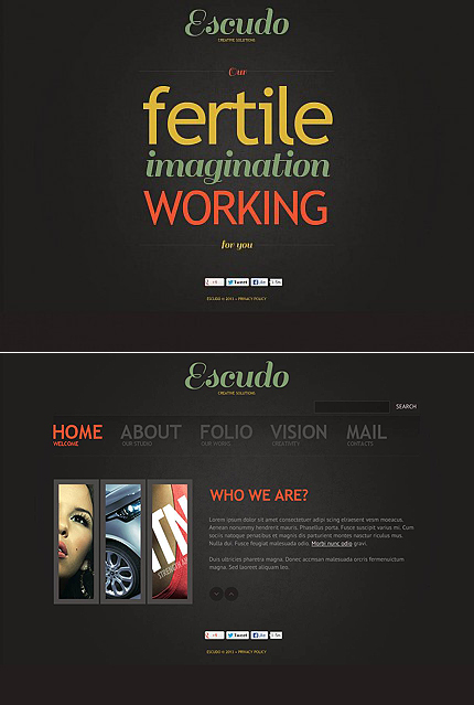 ADOBE Photoshop Template 46055 Home Page Screenshot