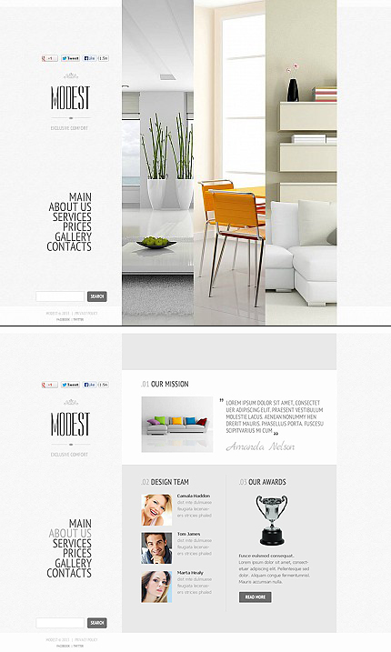 ADOBE Photoshop Template 46056 Home Page Screenshot