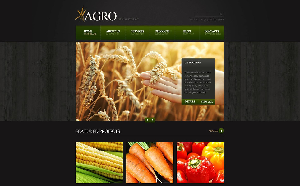 Flash CMS Vorlage für Farm  New Screenshots BIG