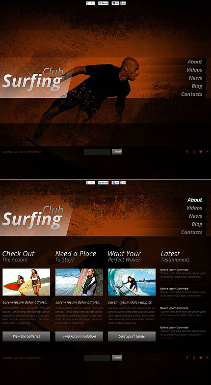 ADOBE Photoshop Template 46064 Home Page Screenshot