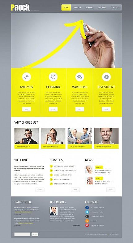 ADOBE Photoshop Template 46067 Home Page Screenshot