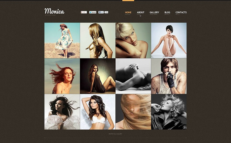 Template Flash CMS para Sites de Portfólio de Fotografo №46069 New Screenshots BIG