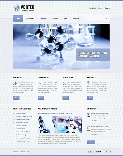 ADOBE Photoshop Template 46070 Home Page Screenshot