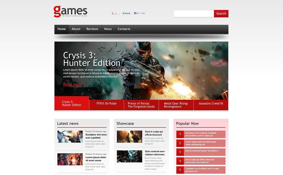 Szablon Flash CMS #46071 na temat: portal gier New Screenshots BIG