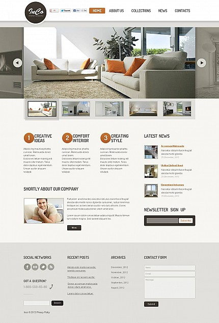 ADOBE Photoshop Template 46072 Home Page Screenshot
