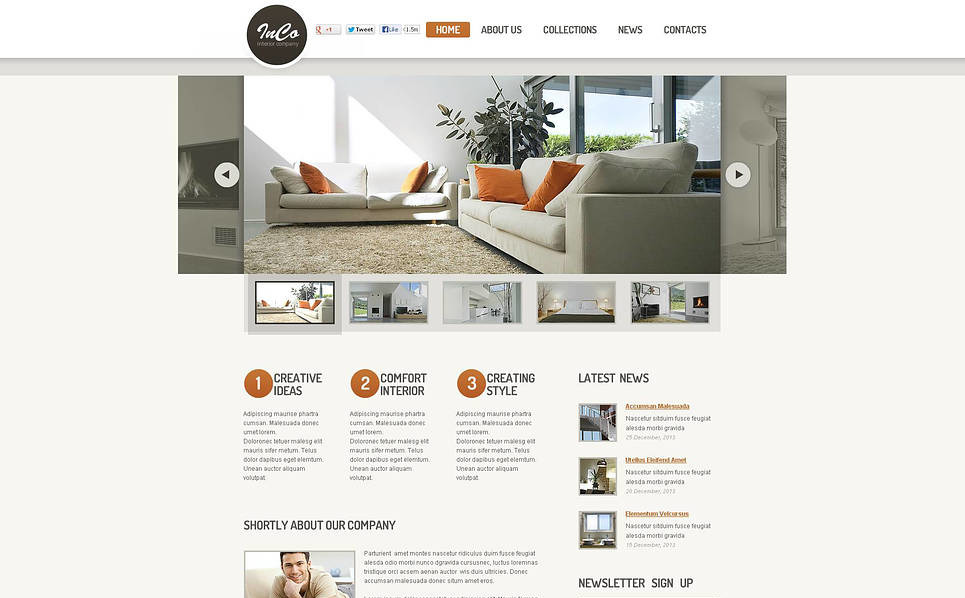 Plantilla Flash CMS #46072 para Sitio de Diseño interior New Screenshots BIG