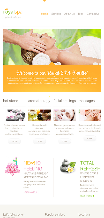 WordPress Theme/Template 46074 Main Page Screenshot