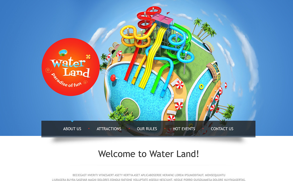 Tema Siti Web Responsive #46080 per Un Sito di Parco Divertimento New Screenshots BIG
