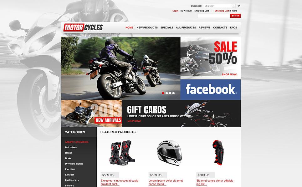 Kerékpárboltok ZenCart sablon New Screenshots BIG