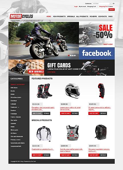 ZenCart Template 46083 Main Page Screenshot