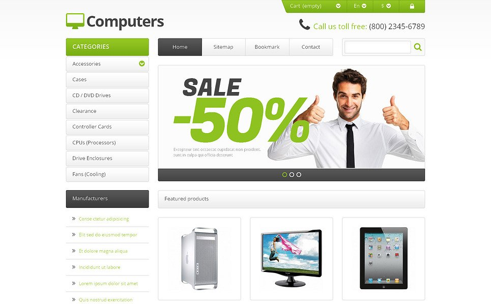 "PrestaShop Theme namens ""Responsive Computer Shop"" New Screenshots BIG"