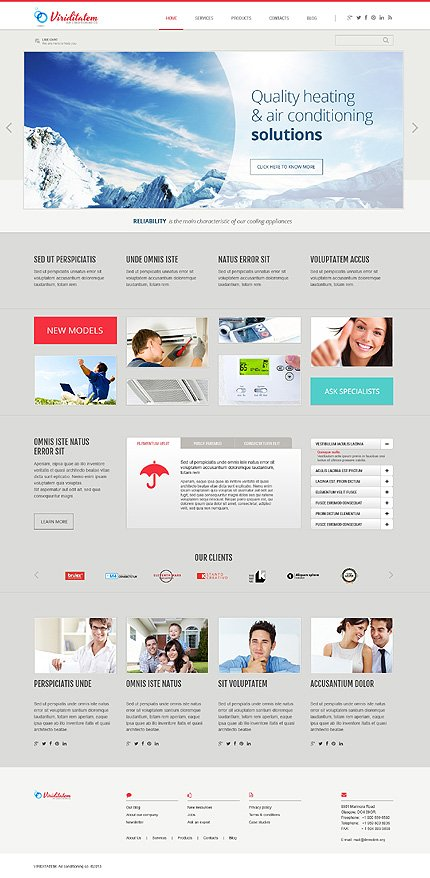 WordPress Theme/Template 46087 Main Page Screenshot