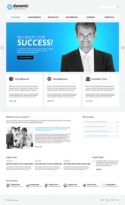 Joomla Theme/Template 46091 Main Page Screenshot