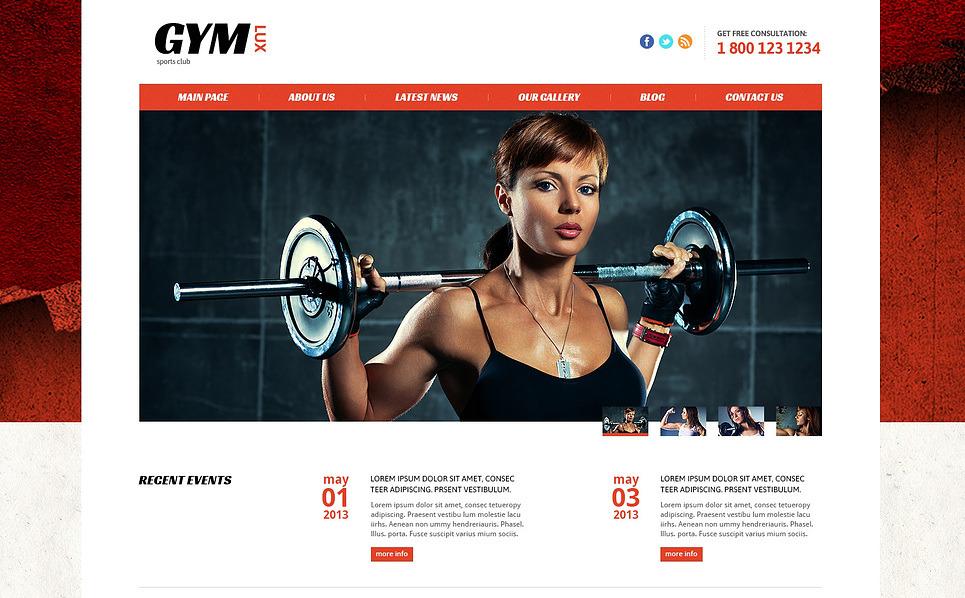 Template Joomla Flexível para Sites de Fitness №46093 New Screenshots BIG