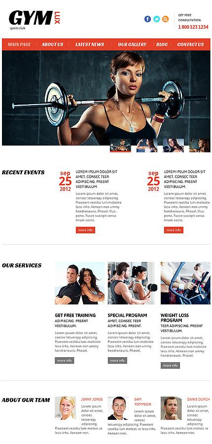 Joomla Theme/Template 46093 Main Page Screenshot