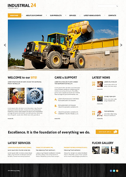 Joomla Theme/Template 46094 Main Page Screenshot
