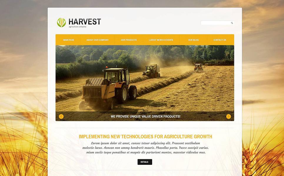 Адаптивний Joomla шаблон на тему сільське господарство New Screenshots BIG