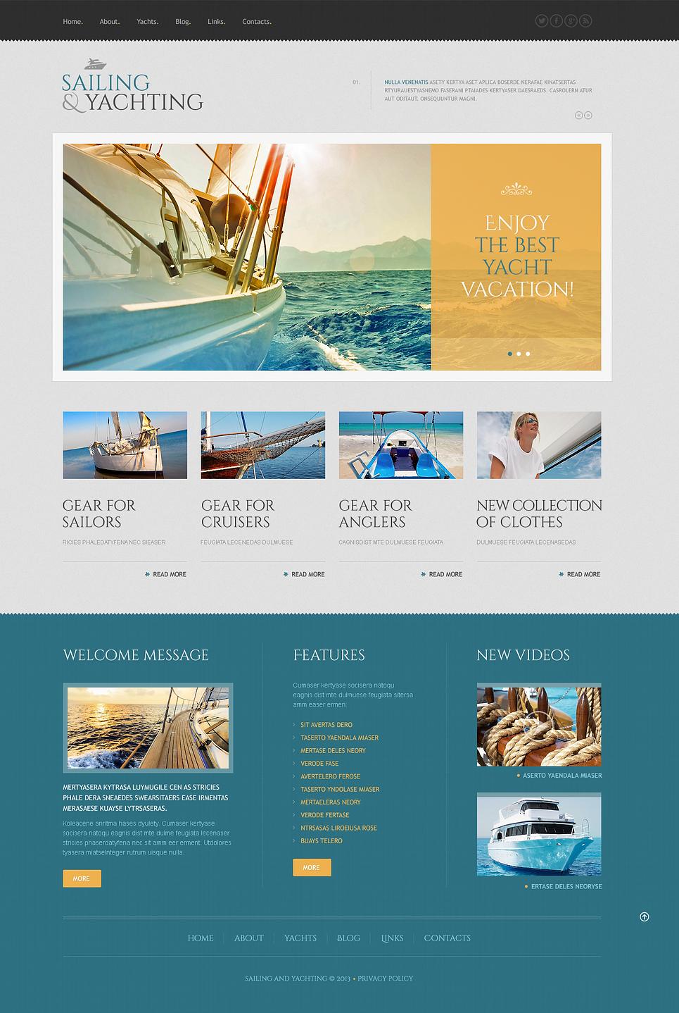 Адаптивный шаблон сайта на тему яхтинг #46019