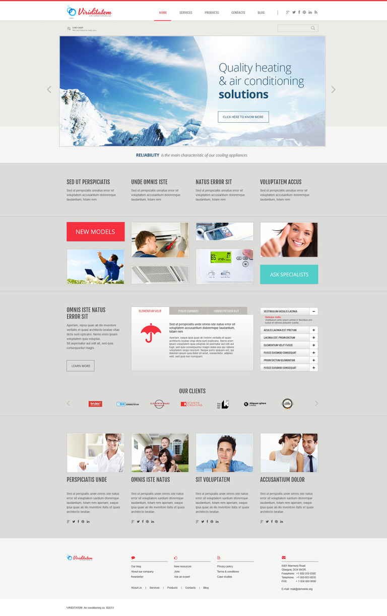 Air Conditioning Company WordPress Theme New Screenshots BIG