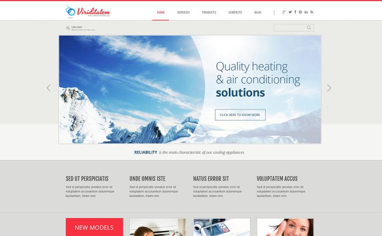 Air Conditioning Company WordPress Theme #46087