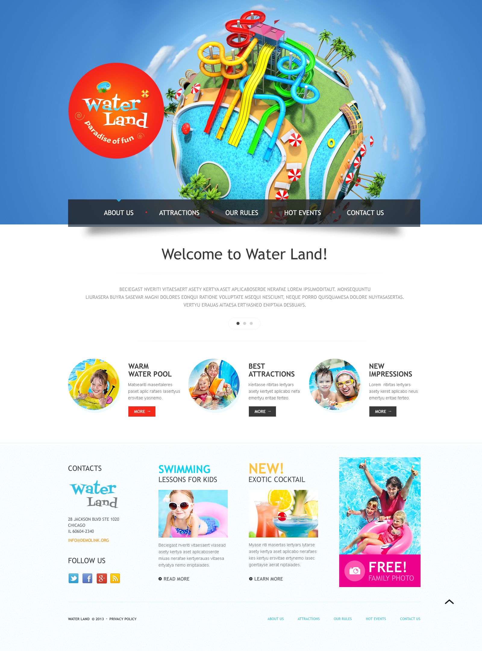 10 best amusement park website templates templatemonster amusement park responsive website theme maxwellsz
