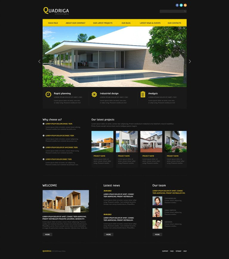 Architecture Agency Joomla Template New Screenshots BIG