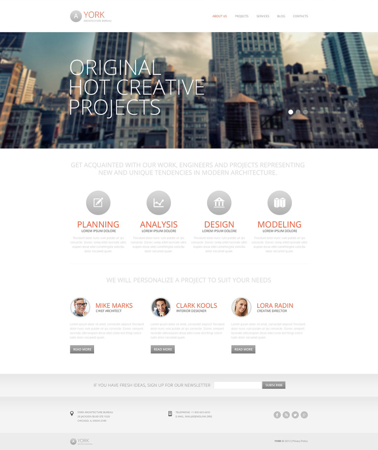 Architecture Ideas Drupal Template New Screenshots BIG