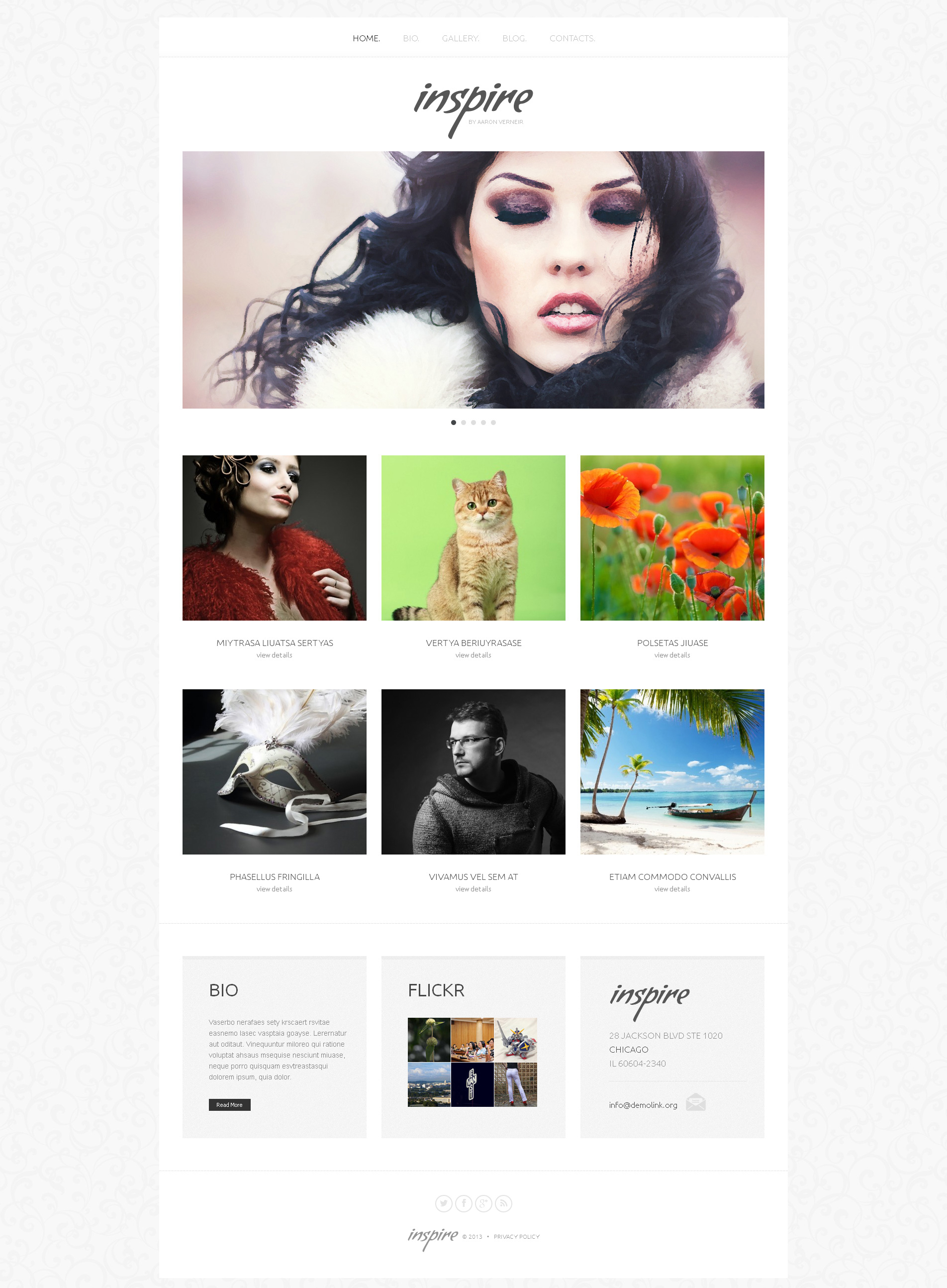 Artist Portfolio Responsive WordPress Theme - Artist portfolio website templates