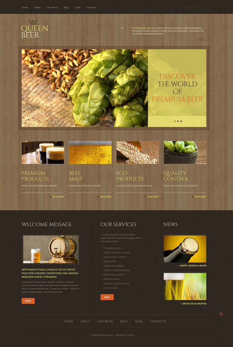 Brewery Responsive WordPress Theme New Screenshots BIG