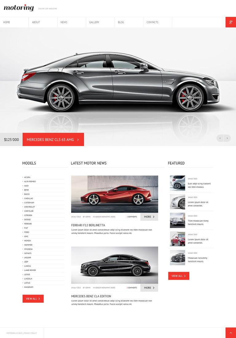Car Club Responsive Joomla Template New Screenshots BIG