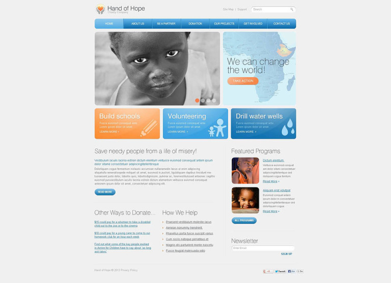 Child Charity Flash CMS Template New Screenshots BIG