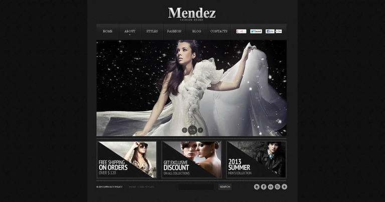 Fashion Blog Flash CMS Template New Screenshots BIG
