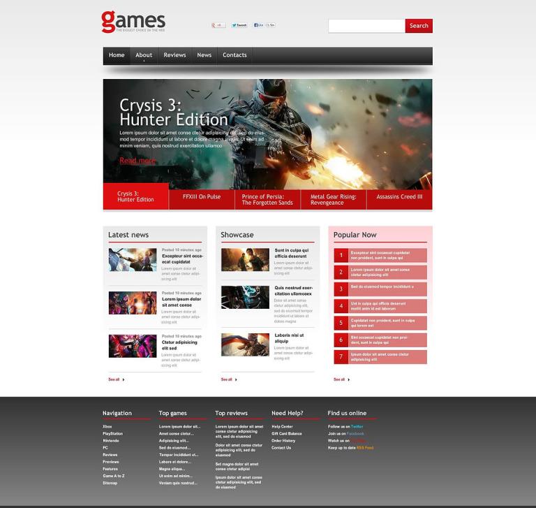 Game Portal Flash CMS Template New Screenshots BIG