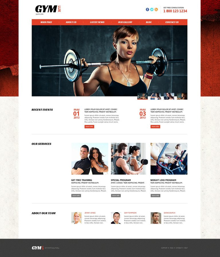 Gym for Health and Beauty Joomla Template New Screenshots BIG