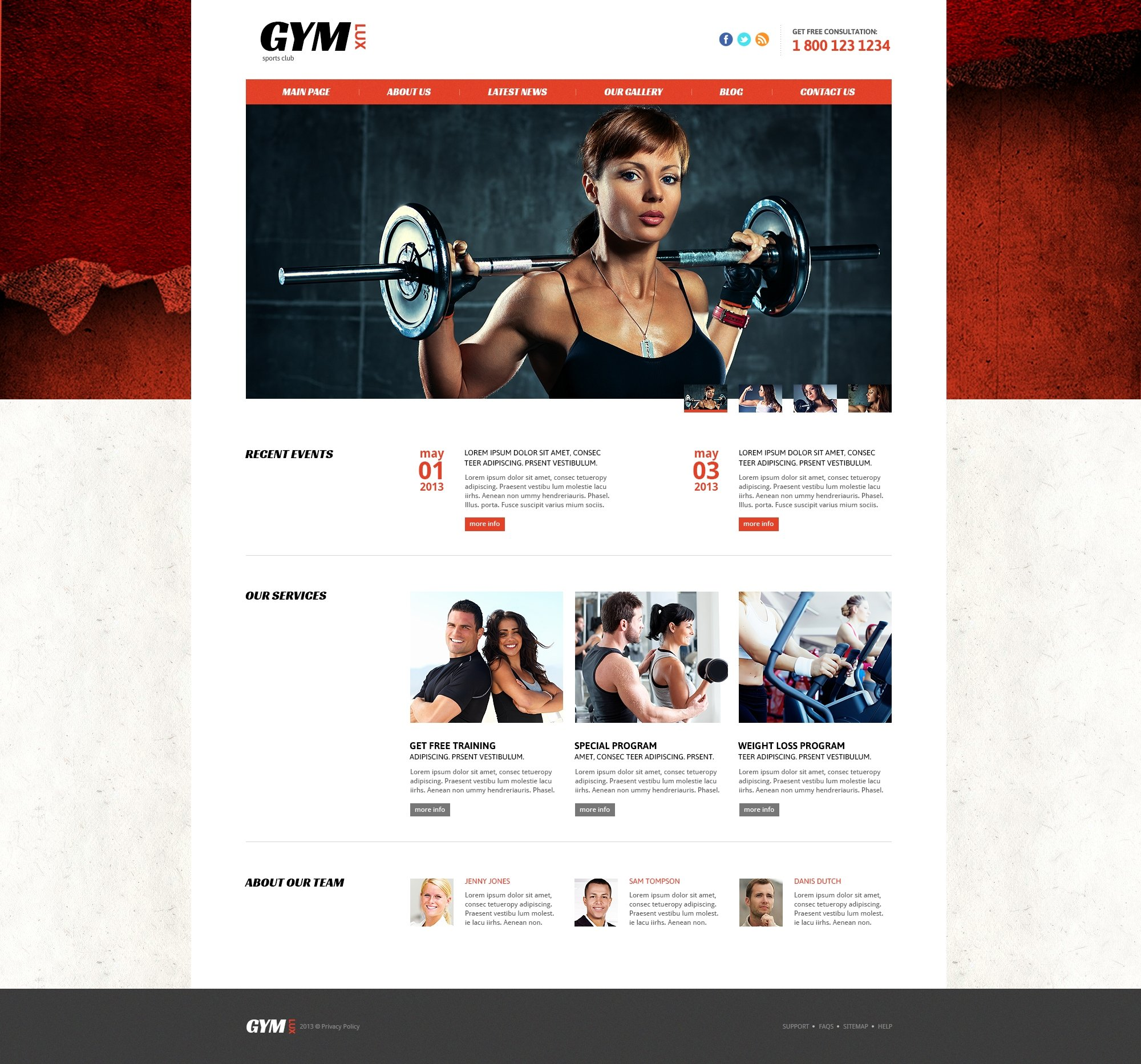Gym For Health And Beauty Joomla Template 46093