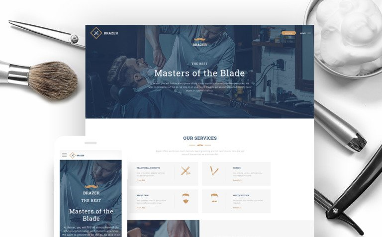Hair Salon Website Template New Screenshots BIG