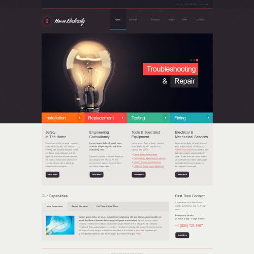 Home Electricity  - Joomla! Template based on Bootstrap