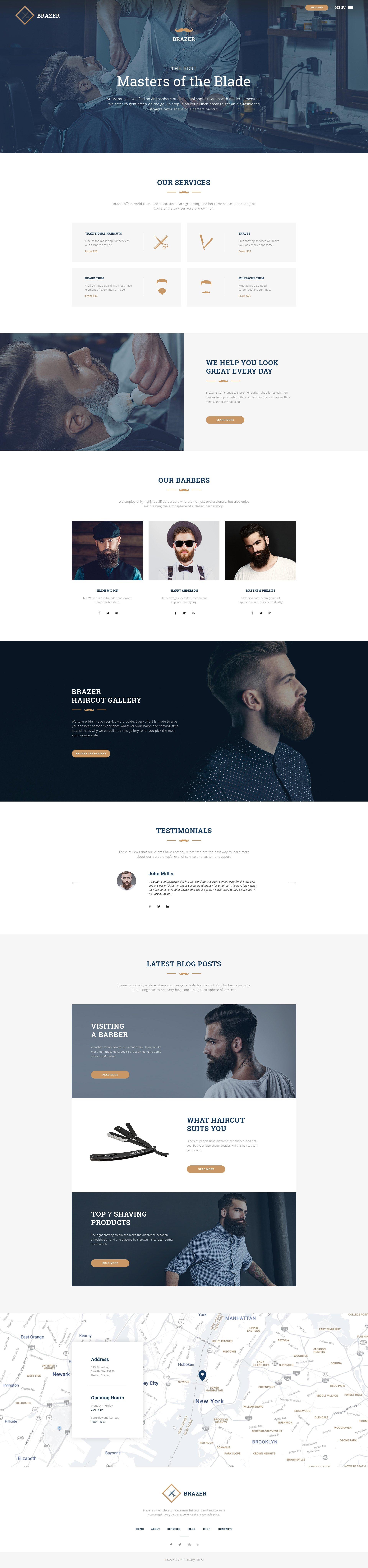 HTML шаблон №46078 на тему парикмахерская