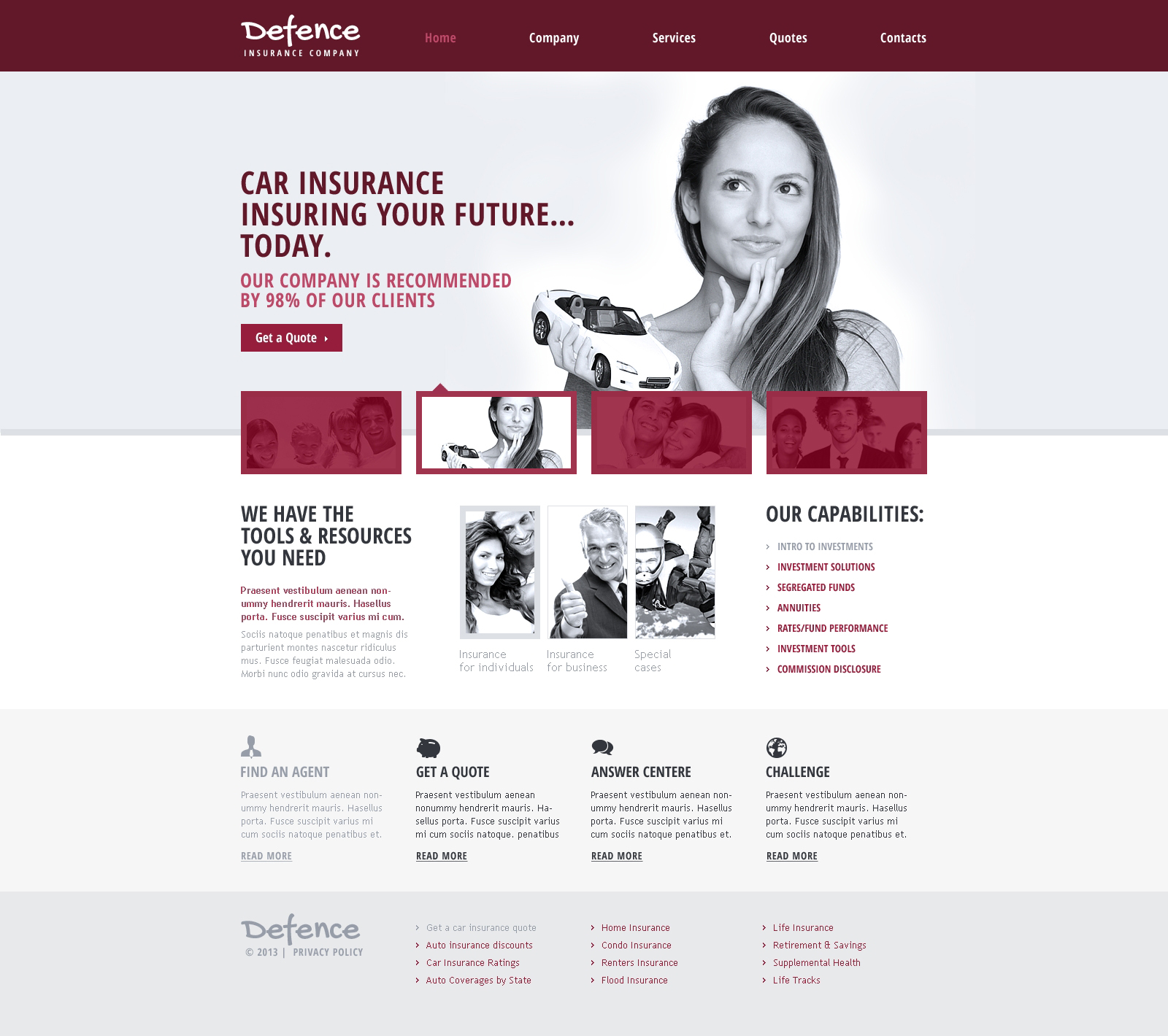 insurance responsive templates  Insurance Responsive Website Template #46001