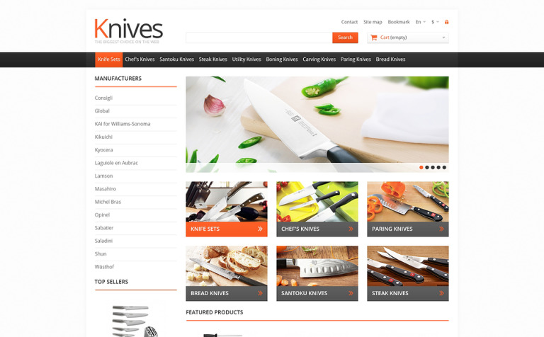 Knives for Easy Cooking PrestaShop Theme