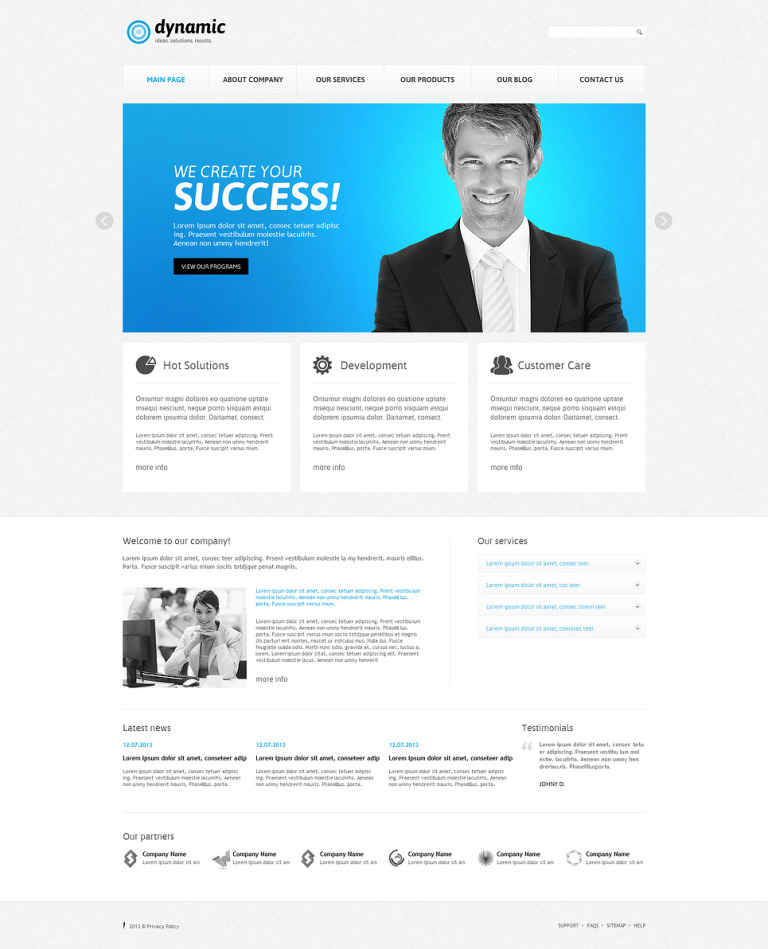 Management Company Responsive Joomla Template New Screenshots BIG