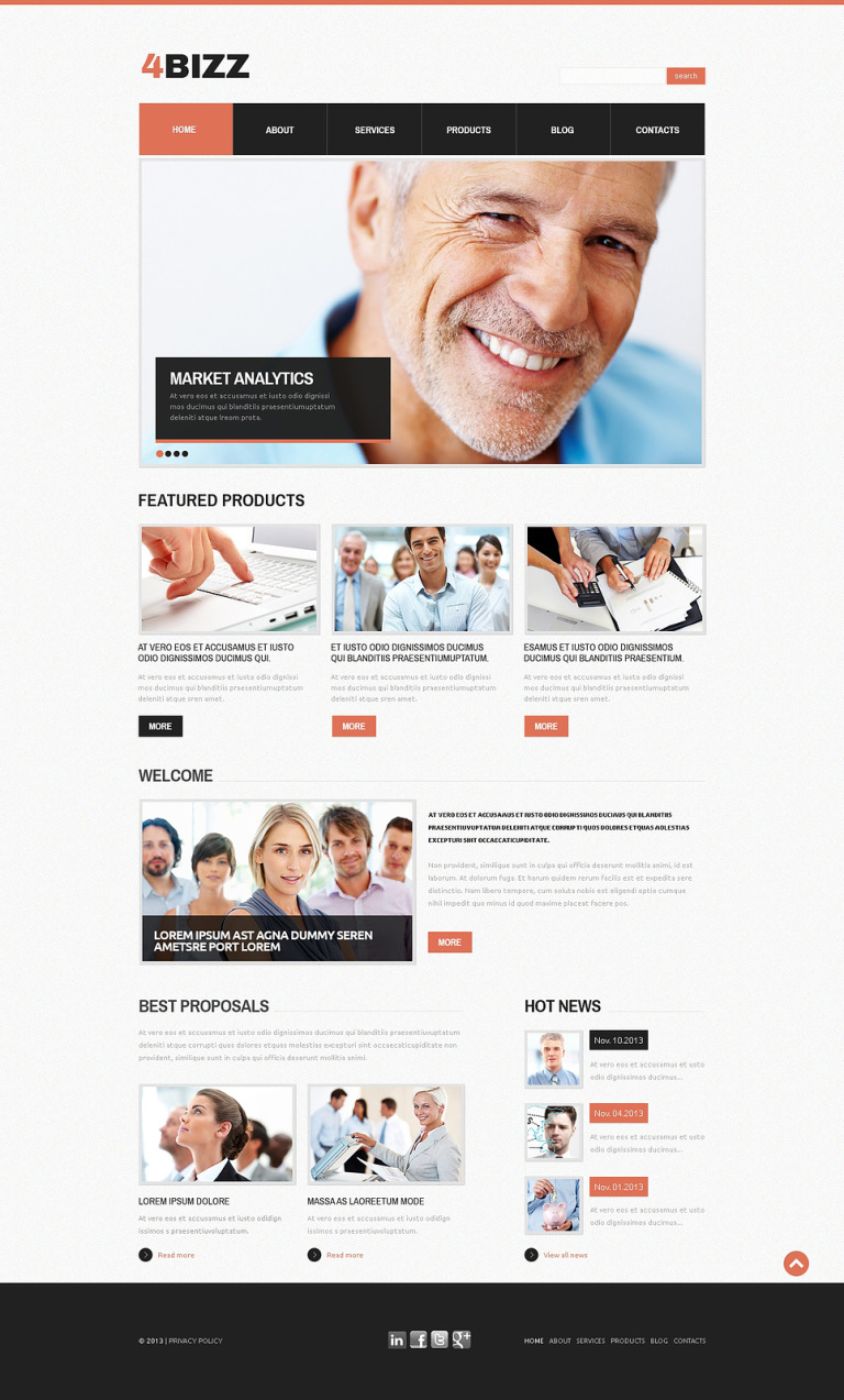 Marketing Company Drupal Template New Screenshots BIG