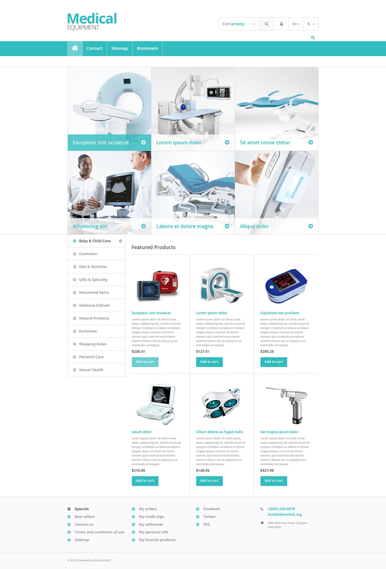 Medical Equipment Store PrestaShop Theme New Screenshots BIG