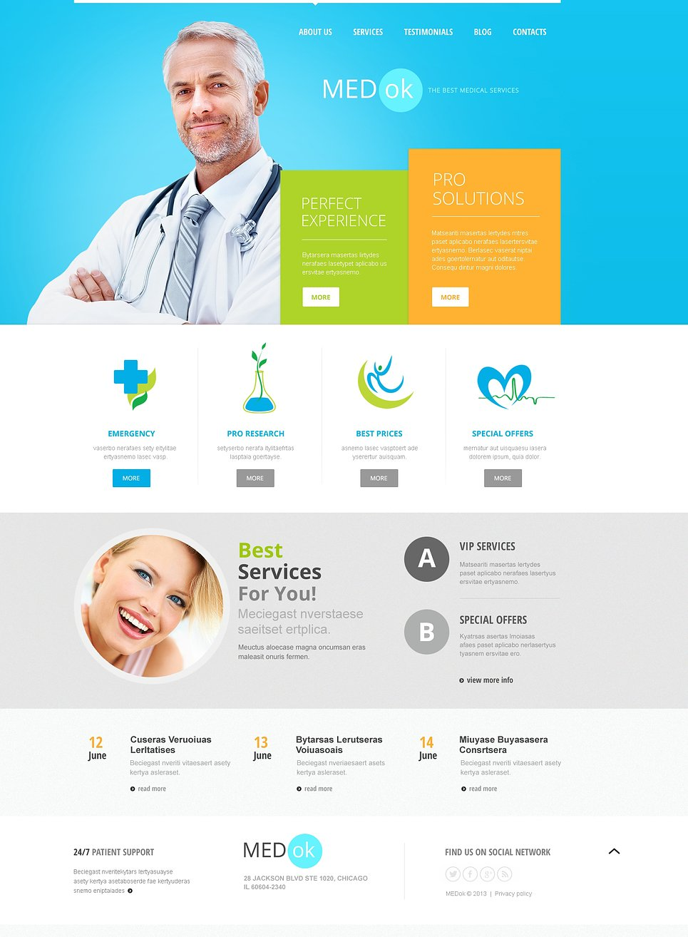 medical services joomla template  46035
