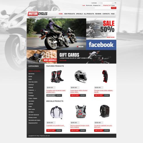 Motorcycles  - HTML5 ZenCart Template