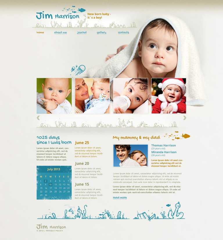 Newborn Responsive Website Template New Screenshots BIG