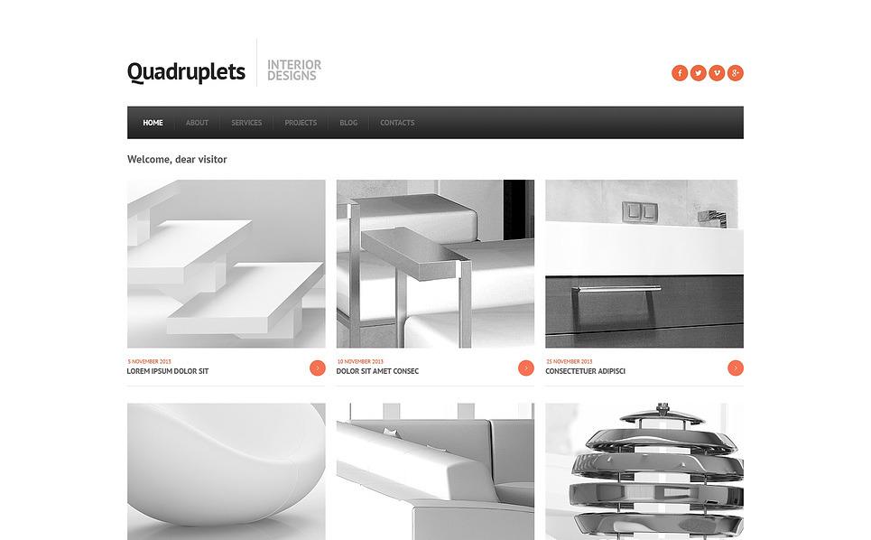 Plantilla Joomla Responsive para Sitio de Diseño interior New Screenshots BIG