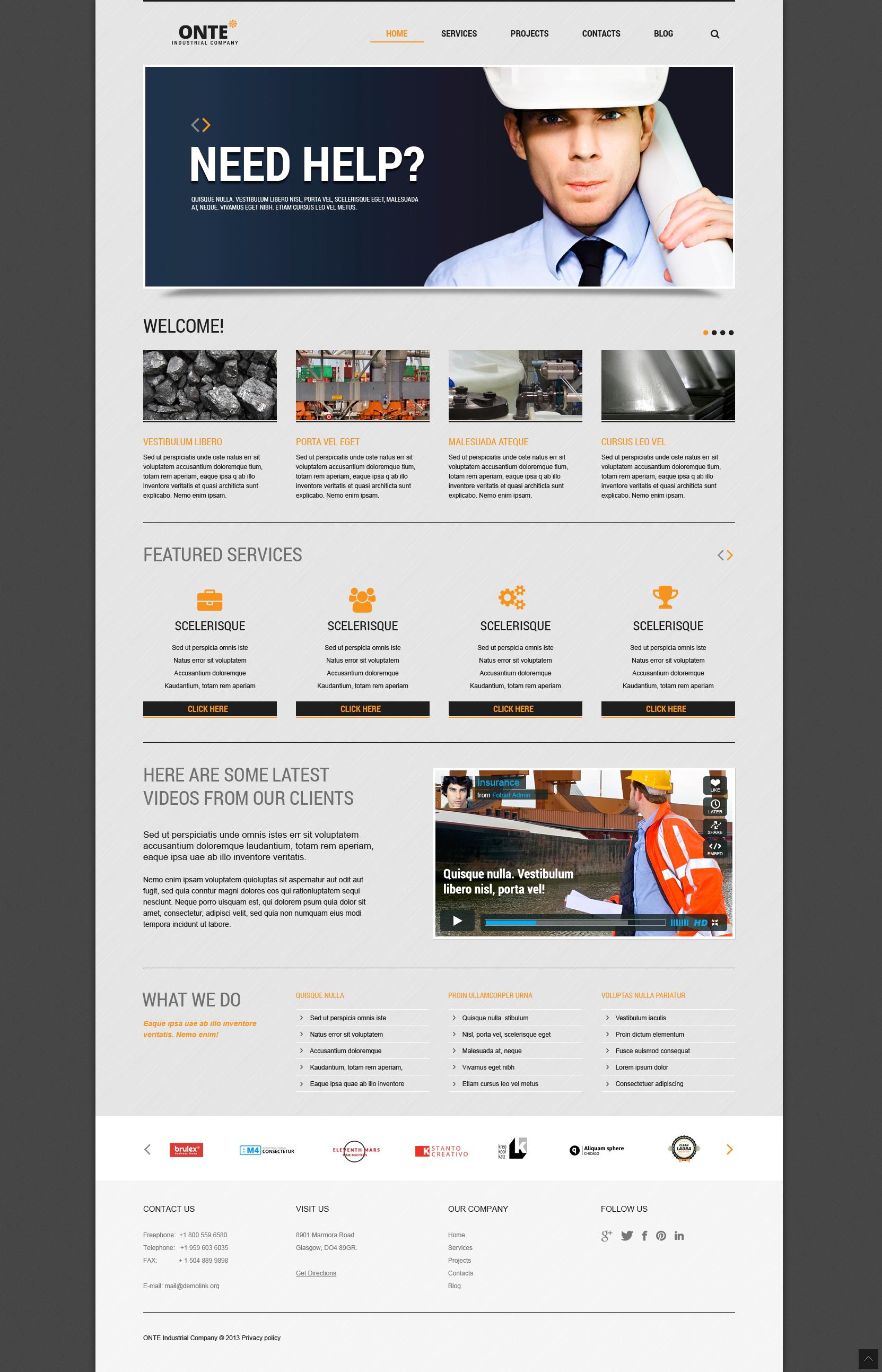 Plantilla Joomla Responsive para Sitio de Industria #46096