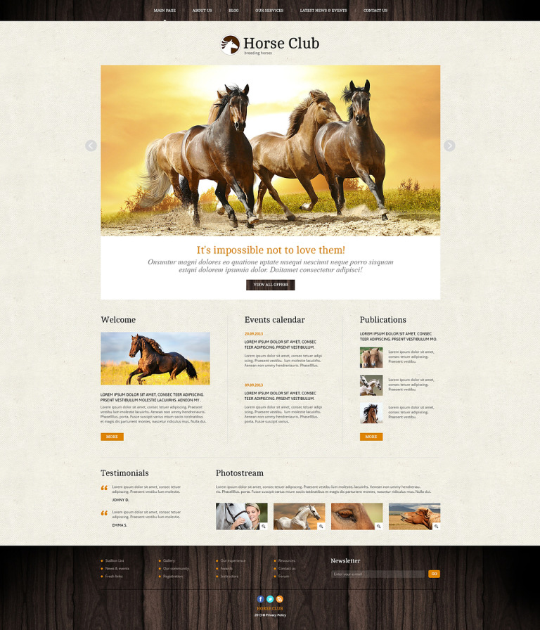 Pro Theme for Horse Business Joomla Template New Screenshots BIG